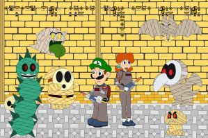 Ghostbuster Luigi And The Mummies Of Sarasaland by Kphoria