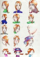 Sophie Hatter Faces by penguinfaery