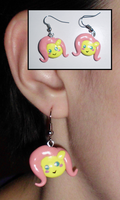 MLP-Inspired Chibi Pony Face Earrings by UniqueTreats