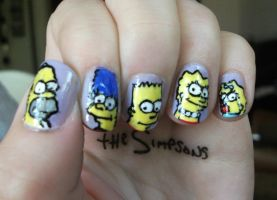 The Simpsons Nails by kaylamckay