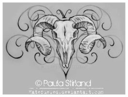 Aries Skull by hatefueled