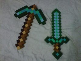 PICO Y ESPADA MINECRAFT by MUERTITO69