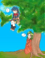 Ike in a tree? by kimiko-fullmoon