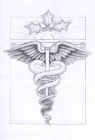 Caduceus Sketch by JaniceDuke