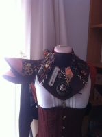 Steampunk neck collar by Firefly182
