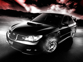 Subaru WRX STI (Wallpaper) by Hardii