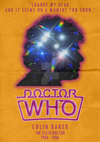 6th Doctor - Colin Baker - Minimalist by Stormy94