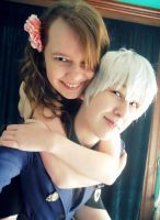 Prussia and Hungary Cosplay by RhymeLawliet