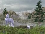 Unicorns in the Mountains by Elle-Arden