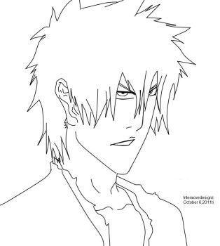 Ichigo_lineart by AnimeFreak32