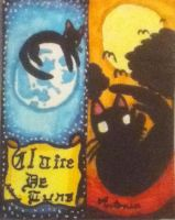 Black cats bookmarks by pie-chan34