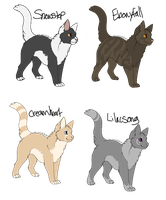 Kitties to good homes by TeachMeToLearn
