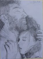 Vincent Cassel and Lea Seydoux by CucaMonguer