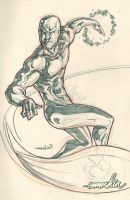 Silver Surfer (pencils) by emmshin