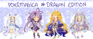 ast WhitePokeMagica*DRAGON Edition Adopts (closed) by Hacuubii