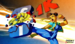 Chun Li Facebook 1K by sykosan