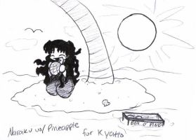 Naraku with Pineapple by neko-yasha