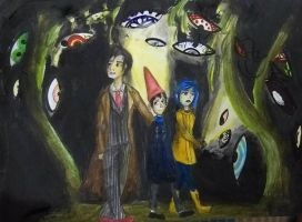 Tenth doctor, Wirt and Coraline by GalacticSky