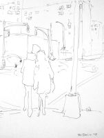 Lovers At Intersection by Benjaminorart