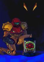 Samus And The Metroid by MichellePow