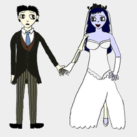 If Corpse Bride was an anime movie by EricTheRedAndWhite