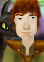 Hiccup and Toothless by brittanyandalvin