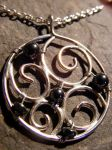 New Moon Hematite Necklace by MoonLitCreations