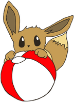Eevee Noming Beach Ball by EevyLynn