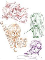 minis colors and hellsing by selene-nightmare69