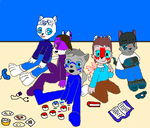 Leon and Friends by Wolf-Prince-Leon