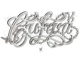 Cufari lettering and rosary by dfmurcia