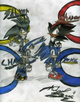C.H.A.O.S.,Sonic,Shadow,Silver by sonichero360