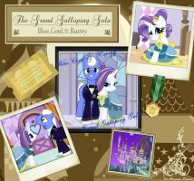 Blue Cord and Rarity at the Gala by FirstAwesomePlatoon