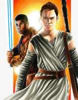 Rey and Finn by smlshin