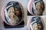 Cloak and Dagger on a baseball by CassandraJames