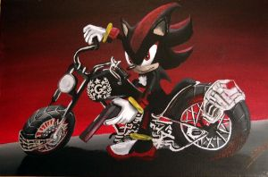 shadow on his motorbike by Sylmarill