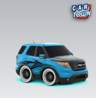 Blue J's Ford Explorer by thechipmunkzone