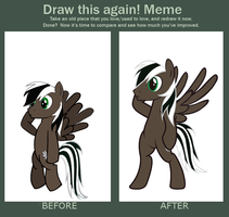 Draw This Again meme: Spectty(OC MLP) by Spectty
