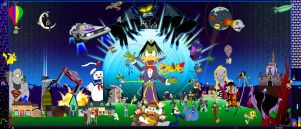Attack of the 50ft Count Duckula (mural version) by profkilljoy7z