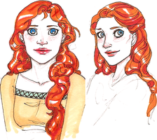 Sansa x2 by hedgehog-in-snow