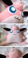 Wigglytuff Plush Commission by P-isfor-Plushes