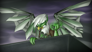 Green Gryphon by Zedrin