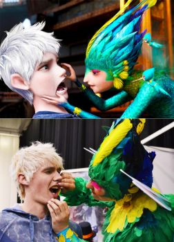 Open up! - Jack Frost and Tooth Fairy cosplay by 2Dismine