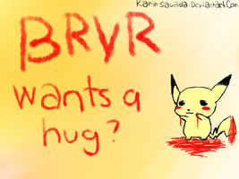 BRVR wants a hug wallpaper by Karin-Sawada