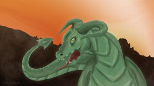 Saurian Dragon by Dead-Standing-Tree