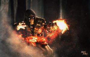 SCORPION - MORTAL KOMBAT X | GET OVER HERE! by andrearoxa