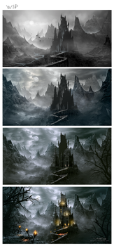 WIP - (Dracula's Castle) Work in Progress by Whendell