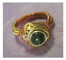 Steampunk ring by neko-crafts