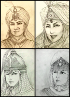 Women Warriors of The Historically Wrong Sketches by Gambargin