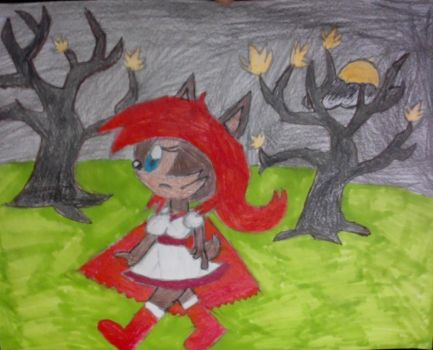 Sally Acorn Little Red Riding Hood by xsamxthexhedgehogx